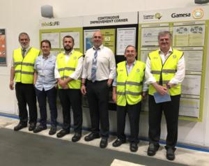 Responsables del departamento de Trabajo del Gobierno Vasco visitan la planta de Gamesa Gearbox en Asteasu